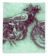 Bsa Gold Star 3 - 1938 - Motorcycle Poster - Automotive Art Fleece Blanket