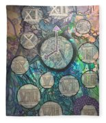 Bubble Clock Fleece Blanket
