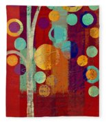 Bubble Tree - 85rc13-j678888 Fleece Blanket