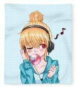 Bubblegum Girl Fleece Blanket