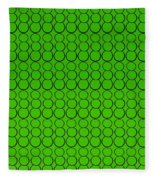 Bubbles All Over The Place -5-grn Fleece Blanket