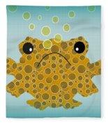 Bubbles The Fish Fleece Blanket