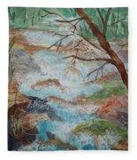Bubbling Falls Fleece Blanket