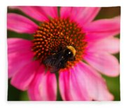 Bumble On A Pistil Fleece Blanket