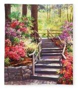 Buchart Garden Stairway Fleece Blanket
