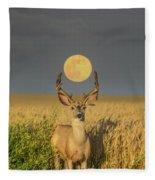 Buck Moon  Fleece Blanket