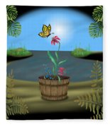 Bucket Butterfly Fleece Blanket