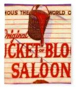 Bucket Of Blood Saloon Fleece Blanket