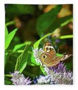 Buckeye Butterfly On The Move 1 Fleece Blanket