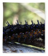 Buckeye Caterpillar Fleece Blanket