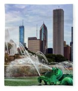 Buckingham Fountain Fleece Blanket