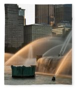 Buckingham Fountain Sidelight  Fleece Blanket