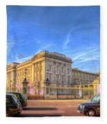 Buckingham Palace And London Taxis Fleece Blanket