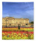Buckingham Palace London Panorama Fleece Blanket