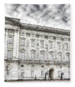 Buckingham Palace London Snow Fleece Blanket
