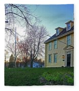 Buckman Tavern At Sunset Fleece Blanket