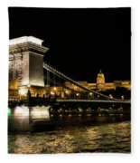 Chain Bridge And  Buda Castle  Fleece Blanket