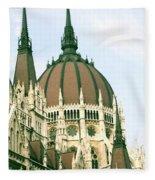 Budapest Parliment Fleece Blanket