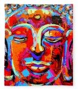 Buddha 3 Fleece Blanket