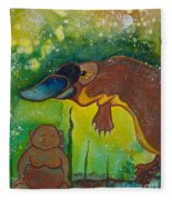 Buddha And The Divine Platypus No. 1375 Fleece Blanket