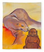 Buddha And The Divine Sea Lion No. 2089 Fleece Blanket