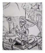 Buddha Basking Fleece Blanket