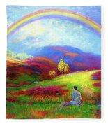 Buddha Chakra Rainbow Meditation Fleece Blanket