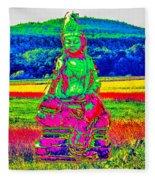 Buddha Dreaming Fleece Blanket