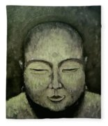 Buddha In Green Fleece Blanket