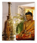 Buddha In India Fleece Blanket
