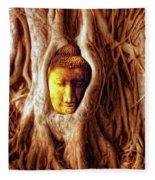 Buddha Of The Banyan Tree Fleece Blanket