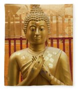 Buddha Statue Fleece Blanket