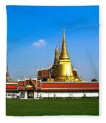 Buddhaist Temple Fleece Blanket