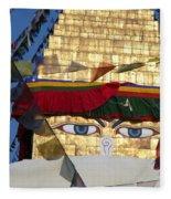 Buddha's  Eyes Fleece Blanket