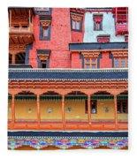 Buddhist Monastery Building Fleece Blanket