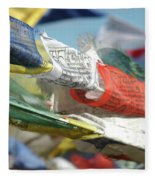 Buddhist Prayer Flags Fleece Blanket