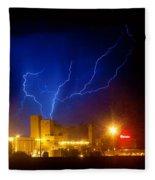 Budweiser Powered By Lightning Fleece Blanket