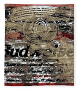 Budweiser Wood Art 5c Fleece Blanket