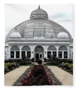 Buffalo And Erie County Botanical Gardens Ink Sketch Effect Fleece Blanket