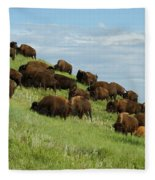 Buffalo Herd Fleece Blanket