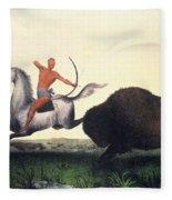 Buffalo Hunt, 1832 Fleece Blanket