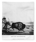 Buffalo Hunt, 1837 Fleece Blanket