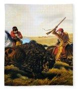Buffalo Hunt, 1862 Fleece Blanket