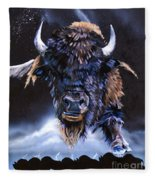 Buffalo Medicine Fleece Blanket