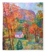 Buffalo Mountain In Fall Fleece Blanket