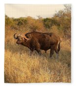 Buffalo On Safari Fleece Blanket