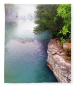 Buffalo River Mist Fleece Blanket