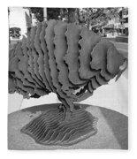 Buffalo Sculpture Grand Junction Co Fleece Blanket