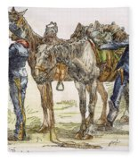 Buffalo Soldiers, 1886 Fleece Blanket