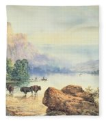 Buffalo Watering Fleece Blanket
